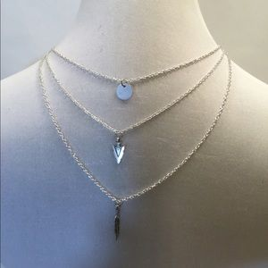 Silver Boho Inspired Layered Necklace